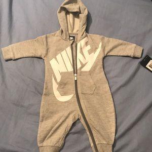 Gray Baby Nike Bodysuit